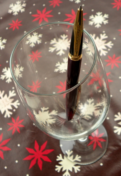 Bartender! Quickly! Fill my glass! No, not with wine; more pens!!