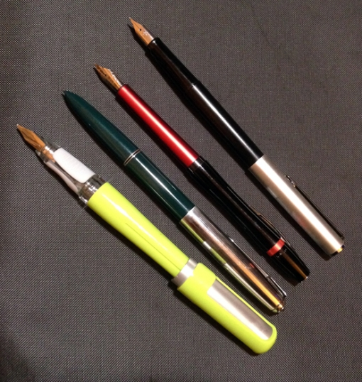 I also have a Pelikan Steno I got for under 30 that would go here except I don't know where you would get one. Mine showed up at my local pen store...
